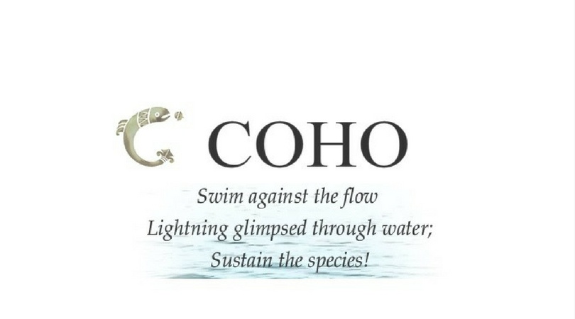 COHO Wines Logo and quote