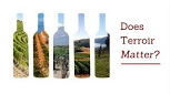 wine bottles with terroir backgrounds