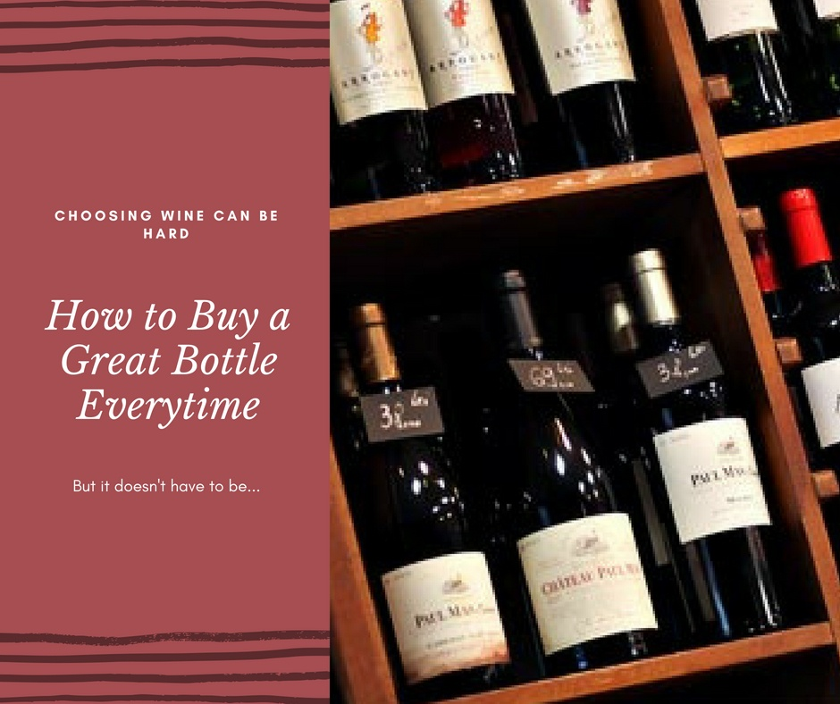 how to buy wine with wine bottles on shelf