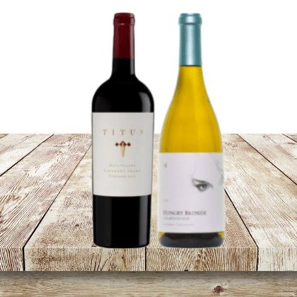 napa valley cabernet and chardonnay wine set