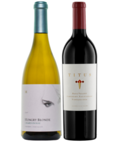 hungry blonde chardonnay and titus napa valley cabernet