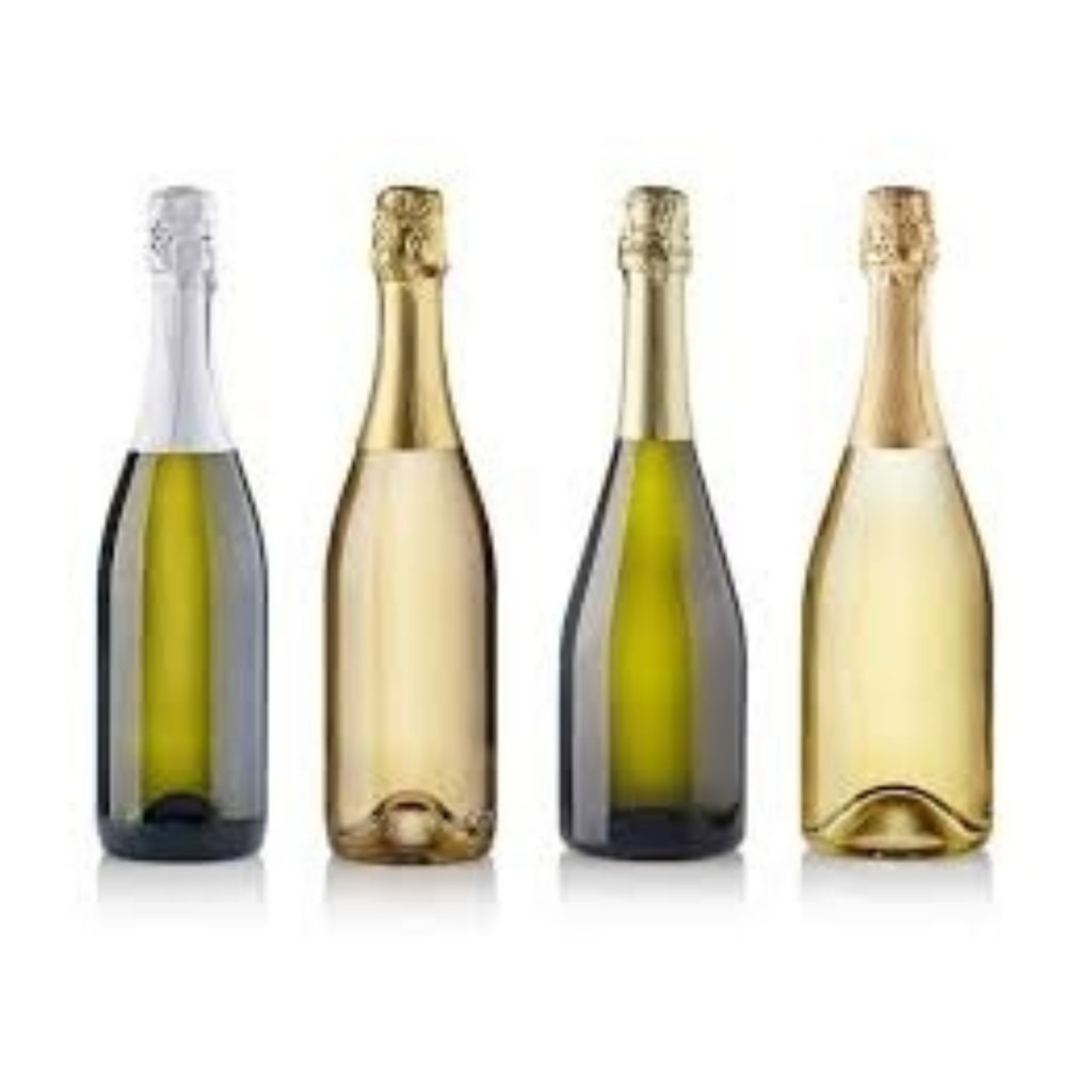 prosecco and champagne bottles