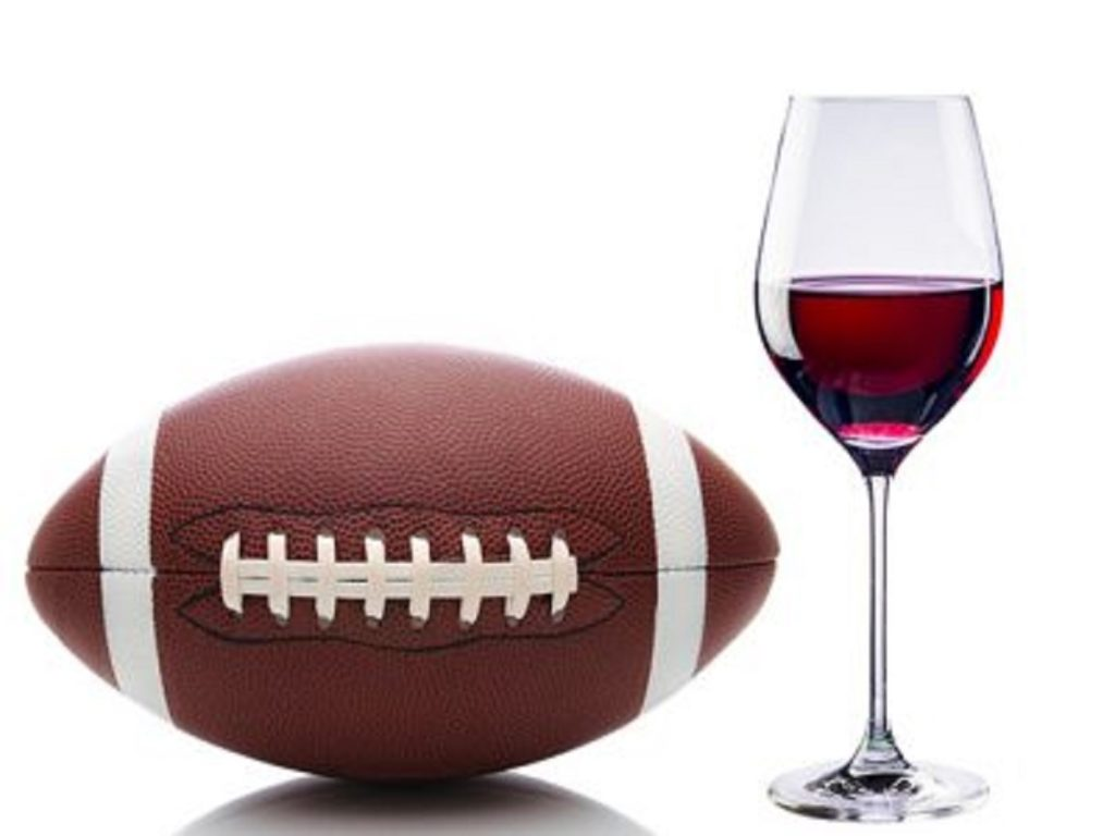 Football and Wine Glass