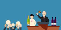 cartoon wine auction