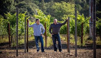 Eric and Phillip Titus in vineyard