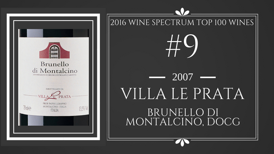 #9 wine of 2016 Villa Le Prata