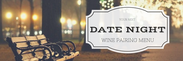 date night wine pairing with picture of trees and park bench