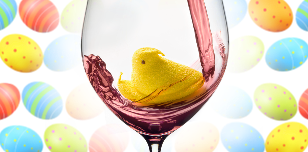 peep in wine glass