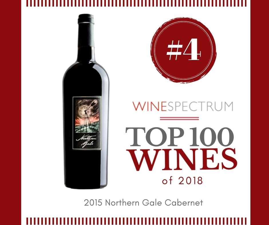 #4 Wine of the Year- 2015 Northern Gale Cabernet