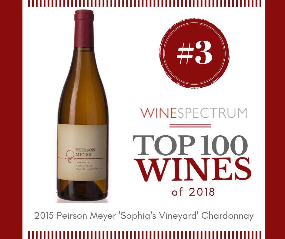#3 Wine of the Year – 2015 Peirson Meyer Chardonnay Sophia's Vineyard