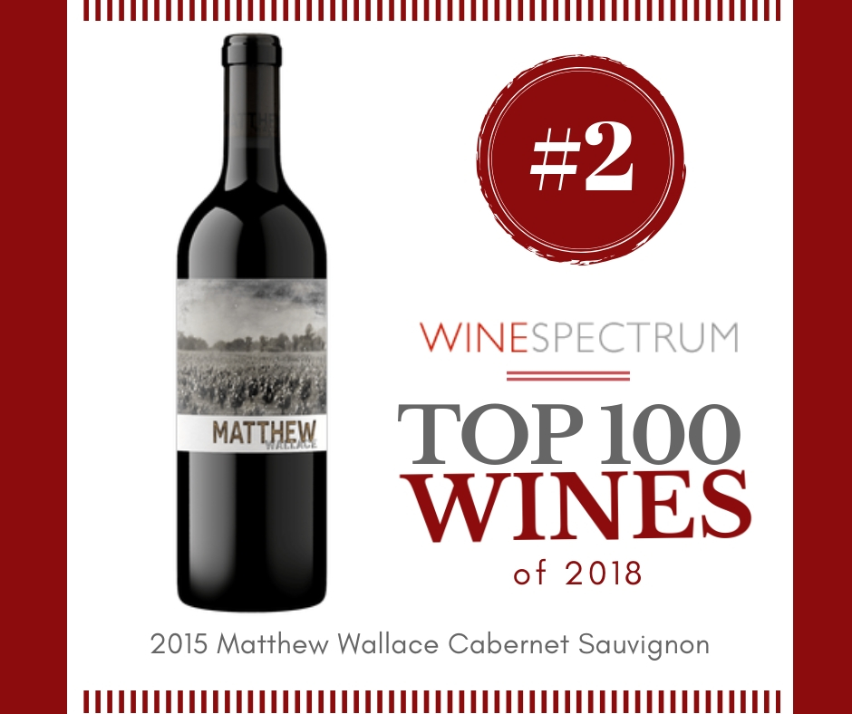 #2 Wine of the Year- 2015 Matthew Wallace Cabernet