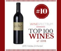 Valdez Zinfandel Top 100 #10 wine