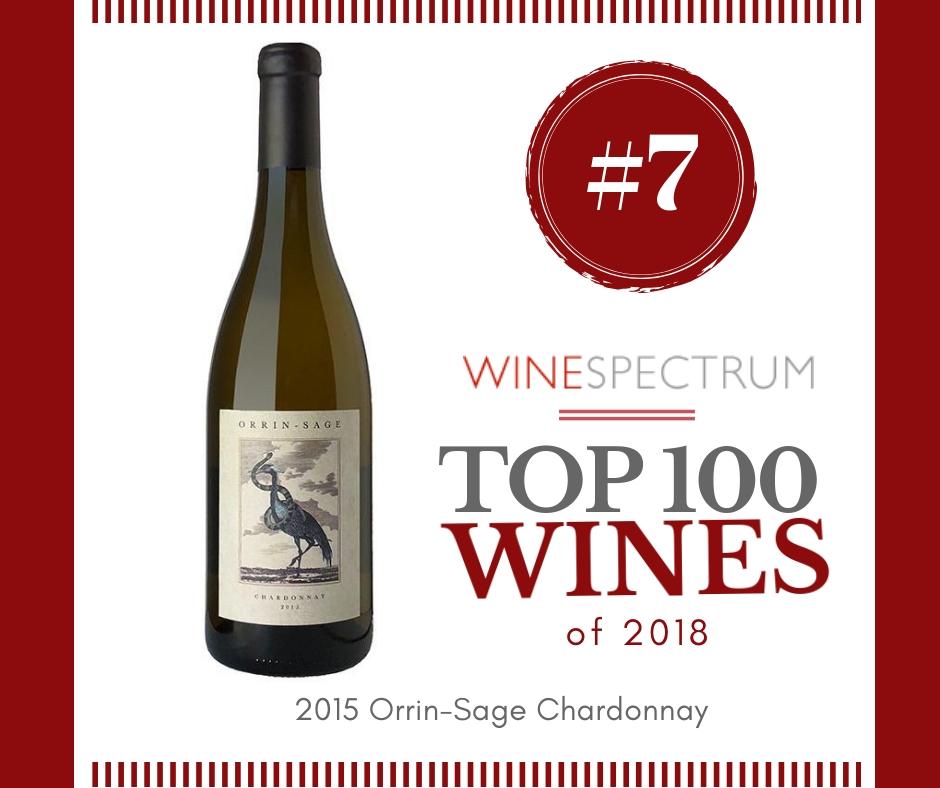 #7 Wine of 2018 – 2015 Orrin-Sage Chardonnay