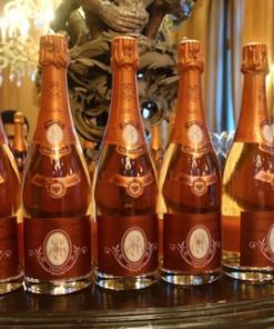 cristal rose champagne btls