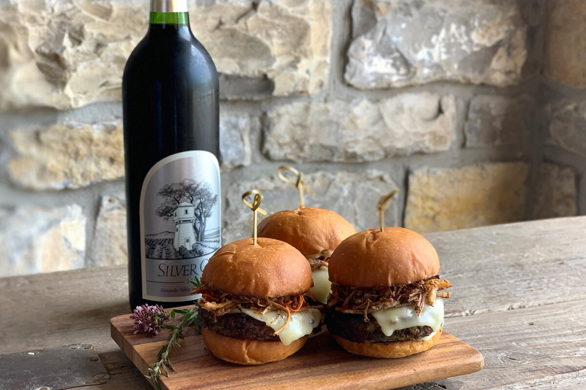 Cabernet and umami slider.