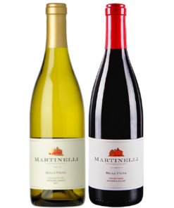 martinelli chardonnay and pinot gift set
